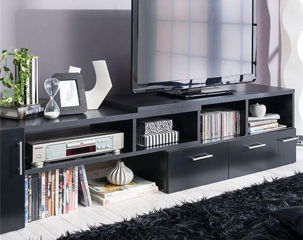 伸縮テレビボード ブラック