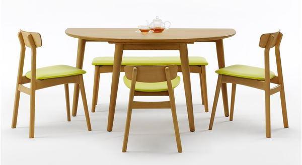 半円形ダイニングテーブル【BOSCO+PLUS】ボスコプラス ブラウン