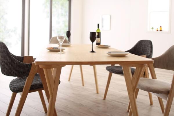 北欧デザインワイドダイニングテーブル【OLELO】オレロ