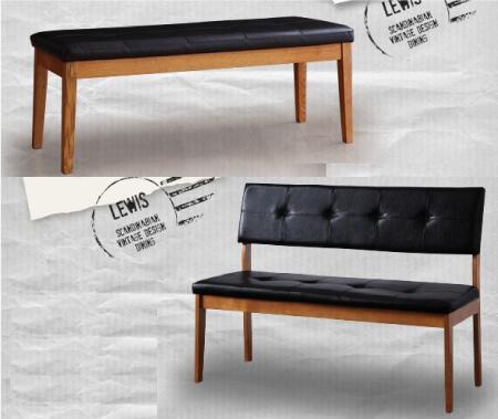 北欧ヴィンテージデザインダイニングベンチ【LEWIS】ルイス