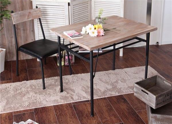 杉古材×スチール ダイニングテーブル・チェア
