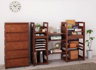 天然木シンプルデザインキッズ家具シリーズ【Primaria】プリマリア ブラウン