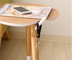 リンゴ型サイドテーブル拡大
