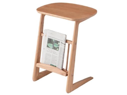 天然木北欧風サイドテーブル