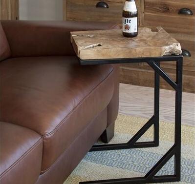 天然木チークのサイドテーブル