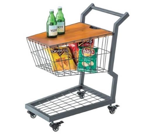 ショッピングカート型サイドテーブル