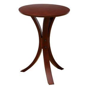 丸形サイドテーブル ダークブラウン