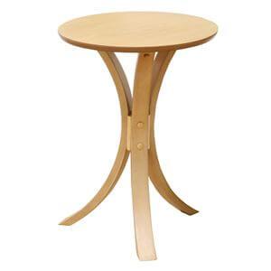 丸形サイドテーブル ナチュラル