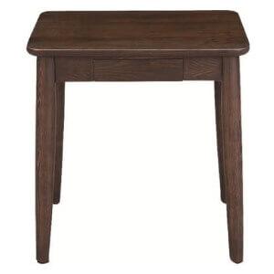 引き出し収納付きサイドテーブル ブラウン