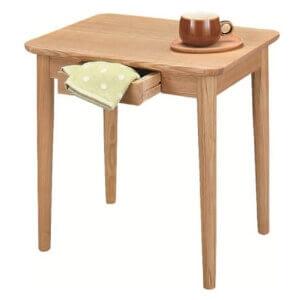 引き出し収納付きサイドテーブル ナチュラル