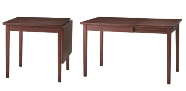 伸長式テーブル ウォールナット