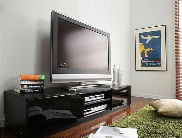 黒いテレビ台『ROBIN』ロビン