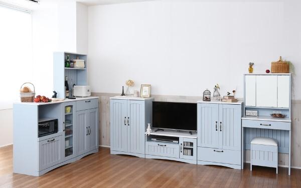 フレンチカントリー家具シリーズ【blue&white】ブルー&ホワイト