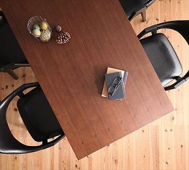 ミックススタイル ダイニングテーブル【De Luca】デルーカ ブラウン