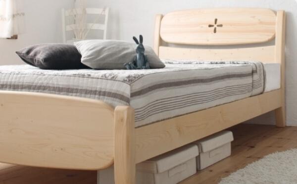 ナチュラルカラーすのこベッド【mirlo】ミルロ