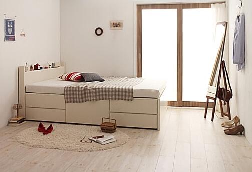 収納付きベッド ホワイト