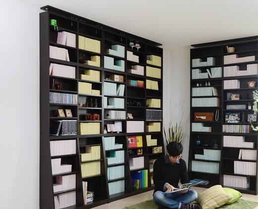1cmピッチ壁面書棚