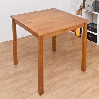 パイン材ダイニングテーブル ブラウン