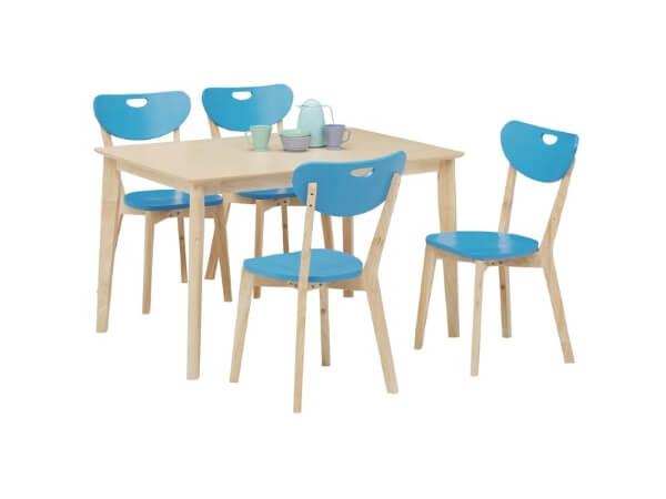ダイニングテーブル5点セット【COPAIN】コパン ブルー