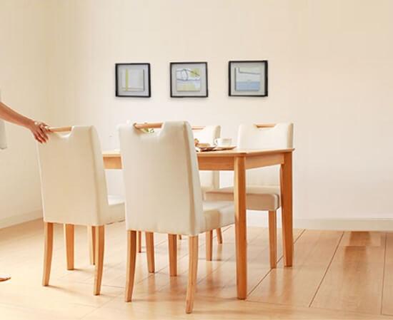 木製ダイニングテーブル【Keith】キース アッシュ突板ナチュラル