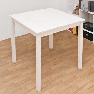 パイン材ダイニングテーブル ホワイトウォッシュ