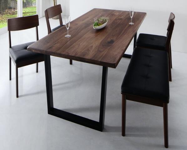 天然木ウォールナット無垢材ダイニングテーブル【Clam】クラム
