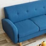 コーディネート家具 ブルーのソファ
