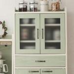 コーディネート家具 グリーンの食器棚