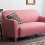 コーディネート家具 ピンクのソファ