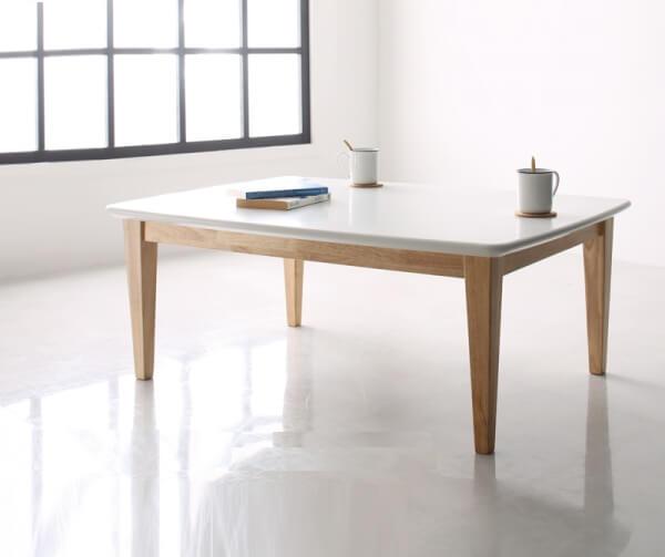 ホワイトカラーこたつテーブル【Crys】クリュス105×75cm