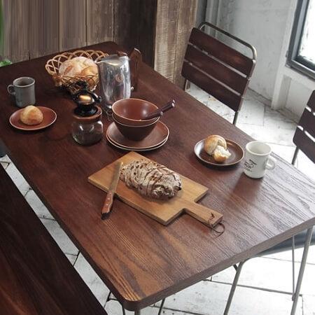 ヴィンテージ 古材風ダイニングテーブル