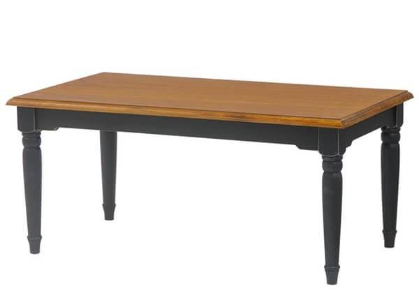 アンティーク調シャビーシックローテーブル ブラック黒