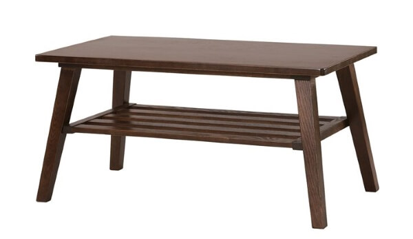 木製ブラウンローテーブル