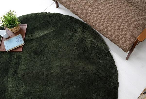 深いグリーンラグ フォレスト