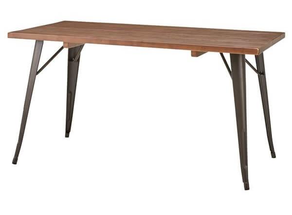 木製ダイニングテーブル  天然木×スチール