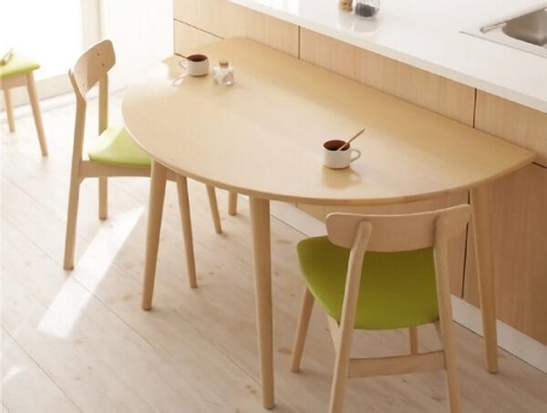 半円形北欧ダイニングテーブル【BOSCO+PLUS】ボスコプラス