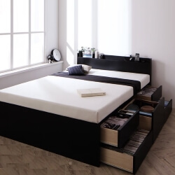収納ベッド ブラック