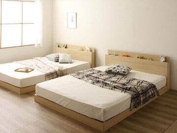 連結ベッド『Flacco』フラッコ 棚・コンセント付き