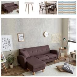 ブラウンのソファのコーディネート