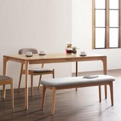 天然木オーク無垢材ダイニングテーブル