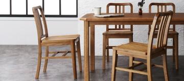天然木オーク材ヴィンテージデザインダイニングテーブル【Dryden】ドライデン