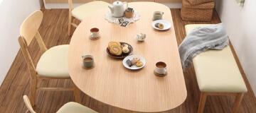 半円形ダイニングテーブル【lune】リュヌ