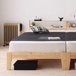 ナチュラルすのこベッド