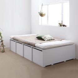 布団が敷ける収納付きベッド