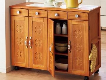 かわいい キッチン収納シリーズ ライトブラウン