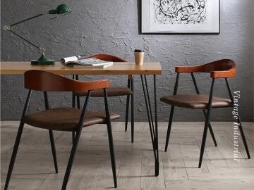 ヴィンテージ風インダストリアルデザインダイニングテーブル【Almont】オルモント