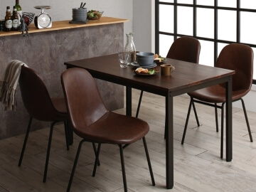 天然木パイン無垢材ヴィンテージデザインダイニングテーブル 【Liage】リアージュ