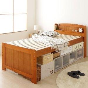 4段階高さ調節できるフリー収納スペース すのこベッド