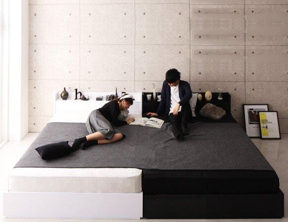 二人暮らし シングルベッド2台を並べる