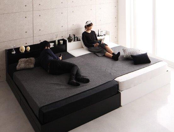 二人暮らし 並べても隙間ができないベッド